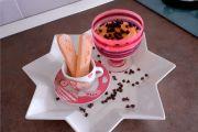 Bicchieri di tiramisù alla crema pasticcera